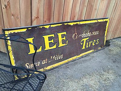 ANTIQUE LEE TIRES SIGN SMILE AT MILES CONSHOHOCKEN Phillips Petroleum DENVER