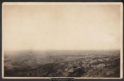 Canterbury from the hills - 1922 - Real Photo Postcard - unused