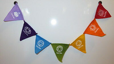 Small The Seven Chakra Flags - Fridge Magnet / Banner / Flags