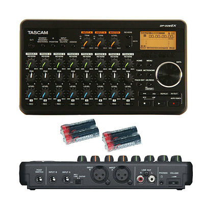 Tascam DP-008EX DP008EX w/ Free 4 Universal Electronics AA Batteries New