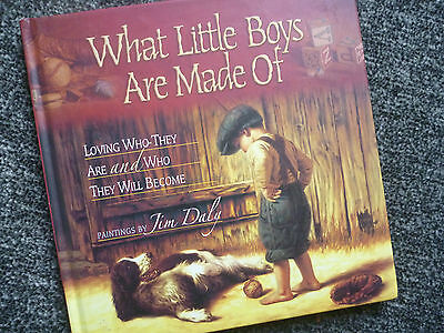 WHAT LITTLE BOYS ARE MADE OF Tim Daly (Beautiful illustrations) E/C