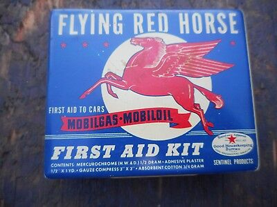 Mobil Oil Mobiloil Mobilgas Flying Red Horse Automotive First Aid Kit For Cars