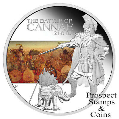 2009 Famous Battles in History -The Battle of Cannae 216BC 1oz Silver Proof coin