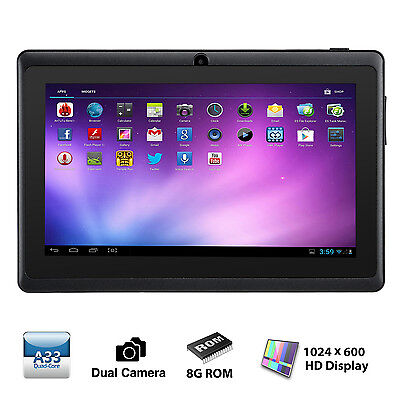 Tablet de 7 Pulgadas - Android 4.4, Quad Core,8 GB ROM, Wi-Fi, Bluetooth -Negro