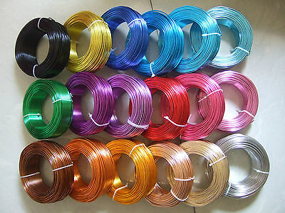 5 Meters 1.5mm 2.0mm Aluminium Craft Floristry Wire For Jewellery Beading Making