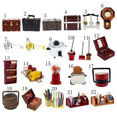 Dollhouse Miniature Toy Doll Family Furniture Kits 1:12 Doll House Accessories