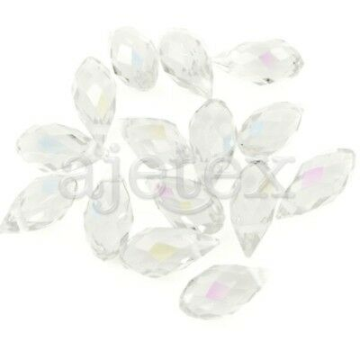 10pcs Crystal Beads Teardrop Drop AB Effect Half AB Effect Beads 12x6mm
