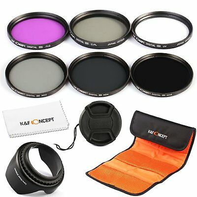 K&F Concept 77mm FLD CPL+UV ND2 ND4 ND8 Lens Accessory Filter Kit fr Canon Nikon
