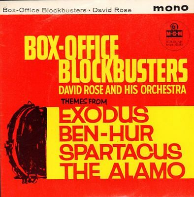 "David Rose & Orchestra(7"" Vinyl P/S)Box Office Blockbusters EP-MGM-MGM -Ex/VG+"