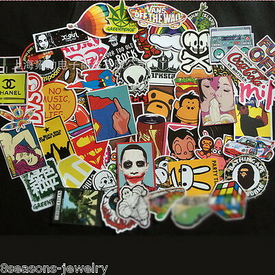 500pcs /lot Sticker Bomb Decal Vinyl Roll Car Skate Skateboard Laptop Luggage