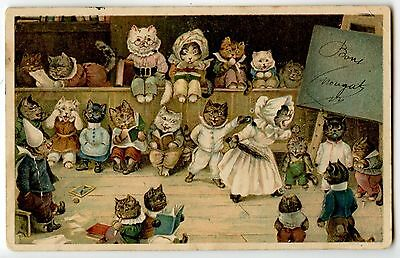 ILLUSTRATEUR LOUIS WAIN.CHATS HUMANISé.THEATRE.CATS HUMANIZED.THEATER.KATZE.CAT