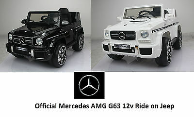 12V Mercedes Amg G63 Ride On Kids Electric Jeep Car + Parental Remote Control