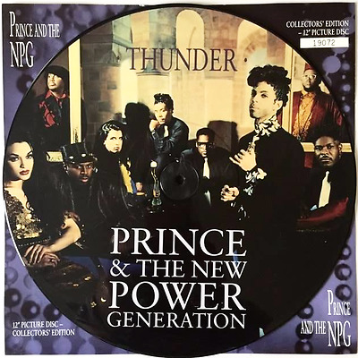 "PRINCE AND THE NEW POWER GENERATION - Thunder (12"") (Picture Disc) (EX/NM)"