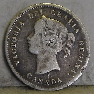 1871 Silver Canadian Five Cents *Free S/H After 1st Item*