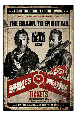 The Walking Dead Fight Poster New - Maxi Size 36 x 24 Inch