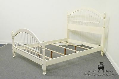 Country French Queen Size Wheatback Bed