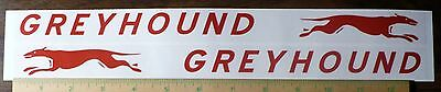 """DECAL SET for GREYHOUND Wagon, Red, Adhesive Backed, 13"""" x 7/8""""  CW105"""