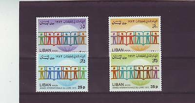 Lebanon - Sg1194-1197 Mnh 1974 International Book Year