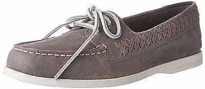 Sperry Top-Sider Women's A/O Quinn Boat Shoes Braided Grey