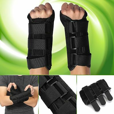 Breathable Wrist Hand Brace Support Carpal Tunnel Splint Arthritis Sprain Black