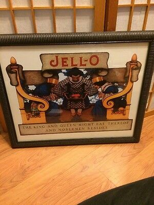 vintage framed jello king and queen ad