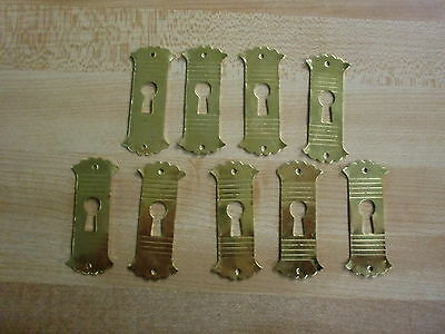 9 Key Hole Covers Restoration New Old Stock Hardware Reproduction Brass