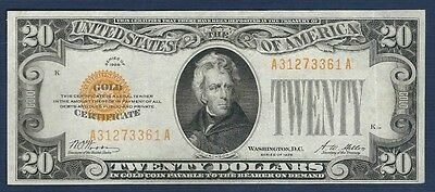 1928 $20 Gold Certificate *Free S/H After 1st Item*