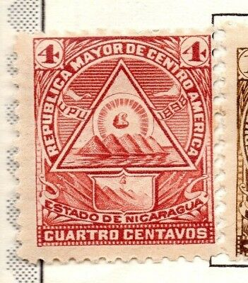 Nicaragua 1898 Early Issue Fine Mint Hinged 4c. 139312