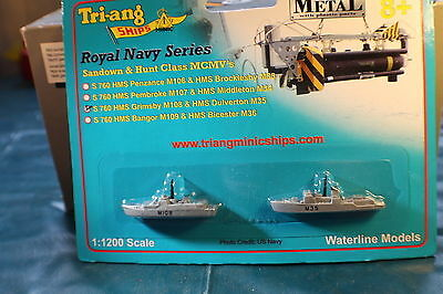 HMS Grimsby M108 and HMS Dulverton M35 Minehunters Royal Navy Mint Carded