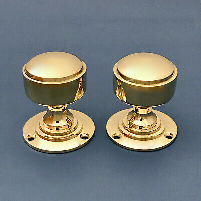 Pairs Of Brass Art Deco Style Door Knobs Handles