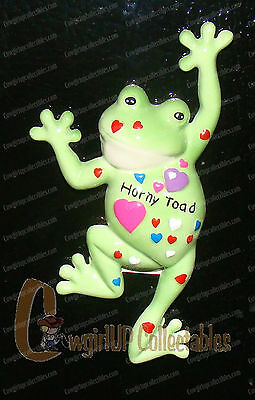 (3) Horny Toad Magnet's (Fanciful Frogs Collection by Westland, 11922)