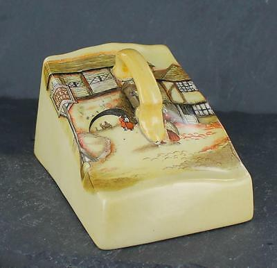 Nostalgic vintage LANCASTER & SONS pottery JOLLY DROVER pattern CHEESE DISH LID