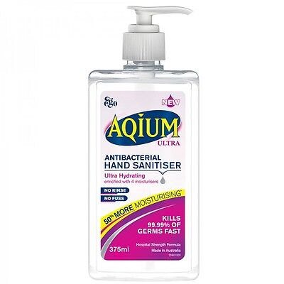 Ego Aqium Ultra Antibacterial Hand Sanitiser Liquid 375ml
