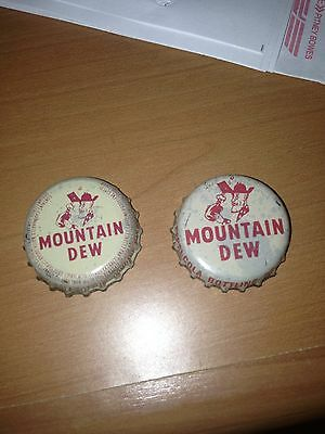 Mountain Dew by Pepsi cola Cork Line Soda Pop Bottle Caps