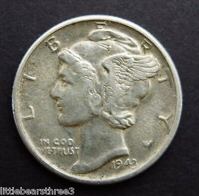 1943 American Silver Dime Coin United States of America - Minted San Francisco
