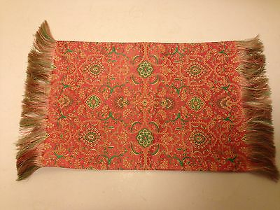 Japanese Tatsumura Orimono Specialty Silk Brocade Fringed Display Mat