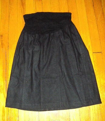 Mimi maternity black skirt size large L fold over waistband knee length casual