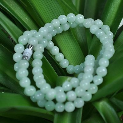 Certified 100% Natural A Light green Emerald Jade Pendant ~Necklace