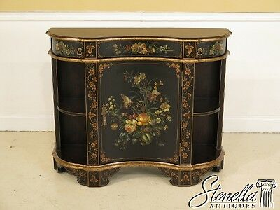 28396E:  Nice Paint Decorated Italian Style Console Cabinet