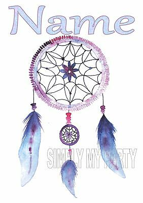 Iron On Transfer / Sticker - Dream Catcher  With Name Personalised