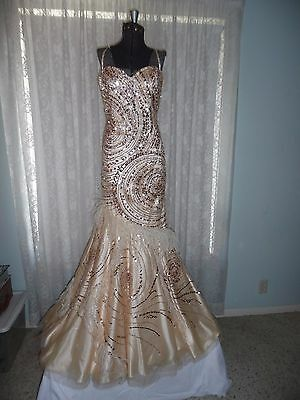 Sherri Hill Mermaid Evening Gown~Excellent Condition~Beautiful Gown Size 2