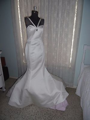 Sherri Hill White Mermaid Gown With Train~Size 2~Could Be Wedding Gown
