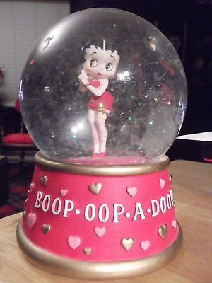 Betty Boop Valentine snow globe. San Francisco Music Box Company.