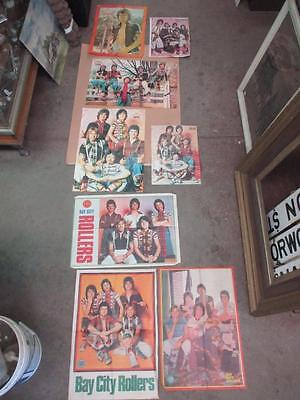 Bay City Rollers poster collection, lot of 8