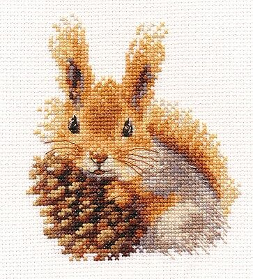 "Counted Cross Stitch Kit ALISA 0-173 - ""Squirrel"""