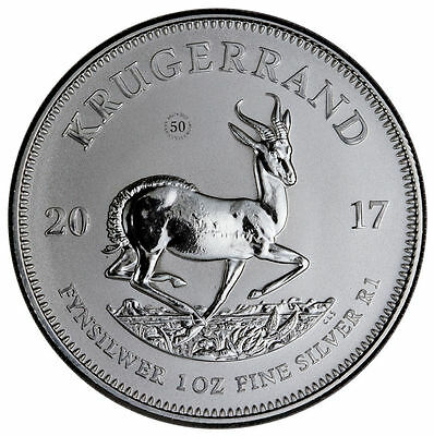 2017 Silver Krugerrand Premium Uncirculated -South Africa 1 Ounce Coin