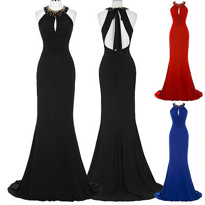 Black Bridesmaid Dress Ball Prom Gown Formal Evening Party Wedding Long Dresses