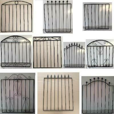 Black Wrought Iron Metal Garden Gate Small Gates Modern Wall Steel 10 Styles