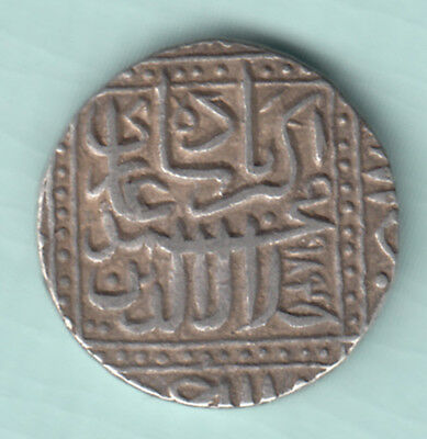 Akbar Mughal King India 984 Extremely RARE Silver Broad Flan One Rupee Coin 473
