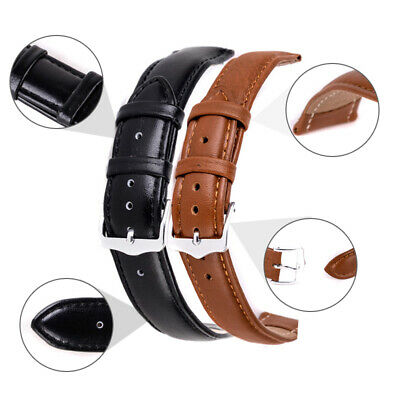 High Quality Mens Ladies Genuine Soft Leather Watch Band Strap 12mm-24mm